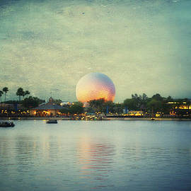 Thomas Woolworth - World Showcase Lagoon Disney World During Sundown Textured Sky