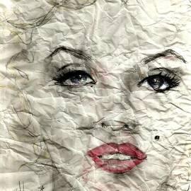 P J Lewis - wrinckled Marilyn
