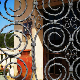Ella Kaye Dickey - Wrought Iron Gated Courtyard