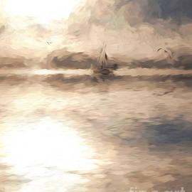 Sheila Smart - Yacht in mist at Bay of Plenty