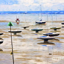 Sheila Smart - Yachts on mudflats at Leigh on Sea