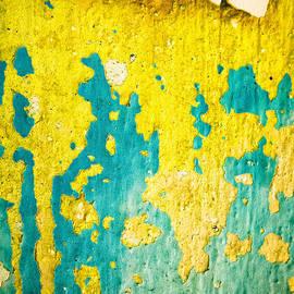 Silvia Ganora - Yellow and green abstract wall