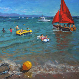 Andrew Macara - Yellow buoy and red sails