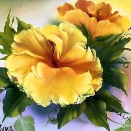Fineartist Ellen - Yellow Hibiscus