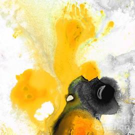 Sharon Cummings - Yellow Orange Abstract Art - The Dreamer - By Sharon Cummings