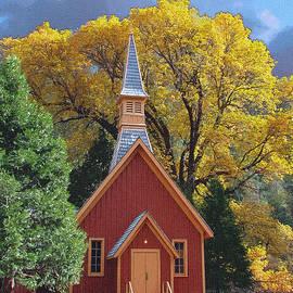 John Haldane - Yosemite Chapel Fall Painting