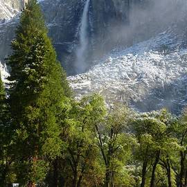 Mike Barnes - Yosemite Falls April Snow