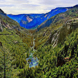 Bob and Nadine Johnston - Yosemite looking down the Merced River
