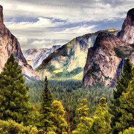 Bob and Nadine Johnston - Yosemite Valley Painting Tunnel View