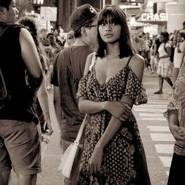 Miriam Danar - Girl with Red Dress - Times Square
