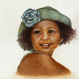 Nan Wright - Young Girl with Straw Hat