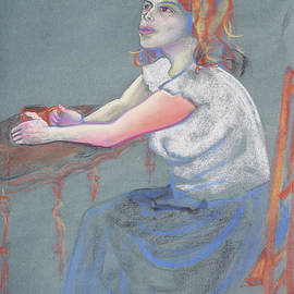 Asha Carolyn Young - Young Woman Dreaming and Yearning with a Cup of Coffee