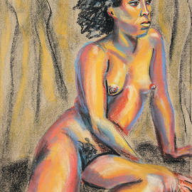 Asha Carolyn Young - Young Woman Resting and Contemplating
