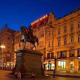 Steven Richman - Zagreb Ban Jelacic Square at Night