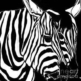 Saundra Myles - Zebra Couple Black and White