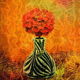Ally  White - Zebra Flower Vase