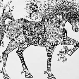 Jani Freimann - Zentangle Circus Horse