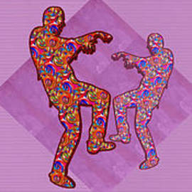 Navin Joshi - Zombie funny comic cartoons dance zombie dance grand   36x12 Horizontal Landscape Energy Graphics Ba