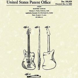 Prior Art Design -  Fender Electric Guitar 1959 Patent Art