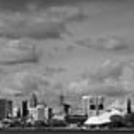 Twenty Two North Photography - Detroit Skyline in Black and White