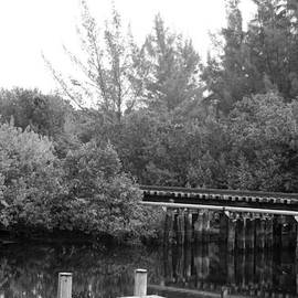 ROB HANS - DOCK ON THE RIVER in BLACK AND WHITE