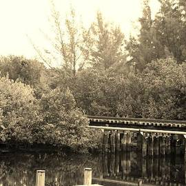 ROB HANS - DOCK ON THE RIVER in SEPIA