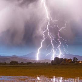 James BO  Insogna - Lightning Striking Longs Peak Foothills 6