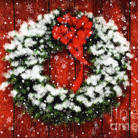 Lois Bryan - Snowy Christmas Wreath