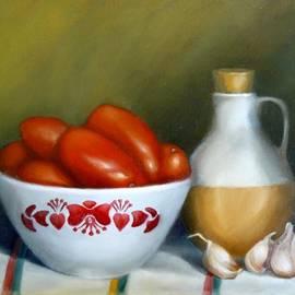 Margaret Stockdale - Tomatoes Garlic And Oil