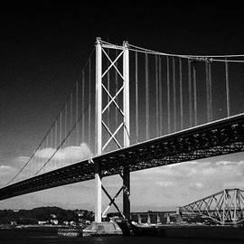 Joe Fox - firth of forth bridges forth road bridge in foreground rail bridge in background scotland uk united