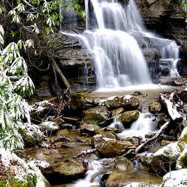 Thomas R Fletcher - Winter Waterfall Back Fork of Elk River