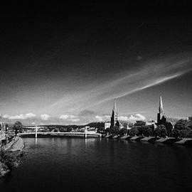 Joe Fox - river ness flowing through inverness city highland scotland uk