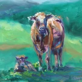 Donna Tuten - A Cow and Her Calf