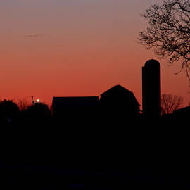 Wayne Stabnaw - A FARM SUNSET