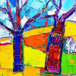 Ana Maria Edulescu - Abstract Landscape - Dancing Trees