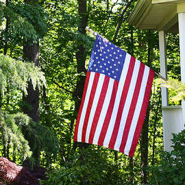 Denise Pohl - American Flag At Home