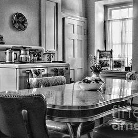 Paul Ward - Americana - 1950 Kitchen - 1950s - retro kitchen Black and White
