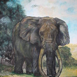 Colleen Daniel - An Old Lone African Elephant