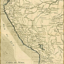 Guillaume Raynal - Antique Map of Peru