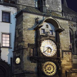 Sally Weigand - Astronomical Clock at Night