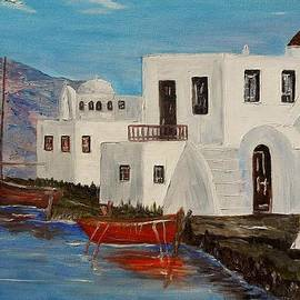 Marilyn  McNish - At home in Greece