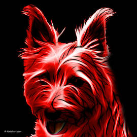 James Ahn - Australian Terrier Pop Art - Red