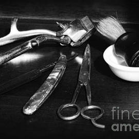 Paul Ward - Barber - Things in a barber shop - black and white