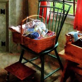 Susan Savad - Basket of Cloth and Yarn on Chair