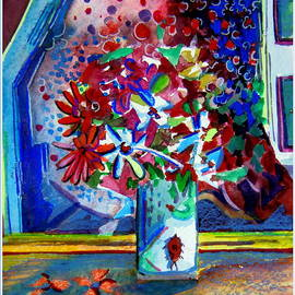 Mindy Newman - Beetle and Flowers