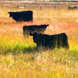 Jennie Marie Schell - Black Cattle Golden Field