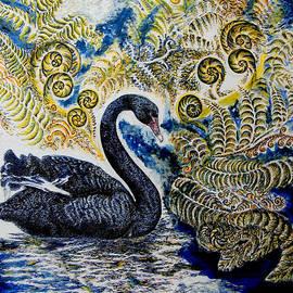 Helen Duley - Black Swan and Tree Ferns no1