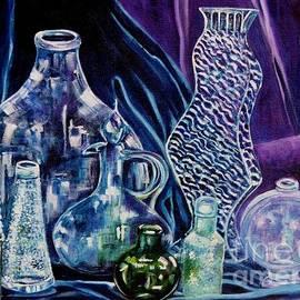 Caroline Street - Blue Cloth with Bottles