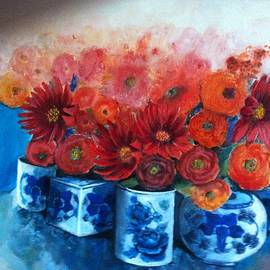 Giti Ala - Blue Vases