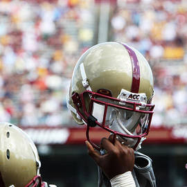 John Quackenbos - Boston College Helmet
